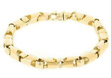 "14k Yellow Gold Solid Handmade Fashion Link Chain Bracelet 7"" 6mm 25.5 grams"