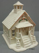 Lenox Christmas Village School House Lighted Building new in box
