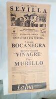 1986 Cartel Plaza de Toros Sevilla Antonio Bocanegra Pepe Murillo