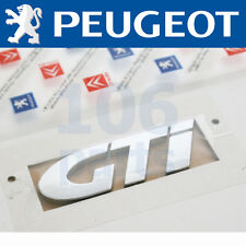 "PEUGEOT 207 GTi SILVER ""GTi"" BODY BADGE 65x25mm NEW & GENUINE O.E PART!"