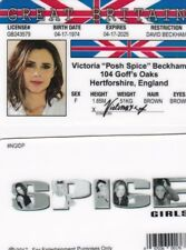 Great Britian Victoira Beckham POSH Spice Girls  fake id card Drivers License