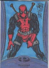 2014 UD Marvel Premier Deadpool Spider-man Sketch card Brian Kong 1/1 Card #41
