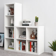 4 16 Cube Square Bookcase Bookshelf Shelves Storage Unit Shelving Rack Cabinet