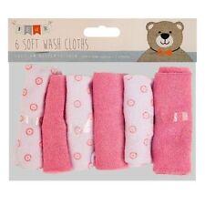 Confezione da 6 BABY KIDS Morbido Panno Lavaggio alimentazione Bagno Doccia Asciugamano flanella pulire ROSA