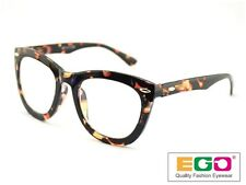 EGO Tom Retro Geek Eyeglasses Ford Style Horn Rim Tortoise Reading glasses +1.25
