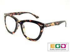 EGO Tom Retro Geek Eyeglasses Ford Style Horn Rim Tortoise Reading glasses +1.25