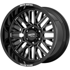 "Moto Metal MO802 20x9 8x6.5"" +18mm Black/Milled Wheel Rim 20"" Inch"