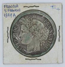 FRANCE 1849 A COIN 5 FRANCS - KM# 761.1
