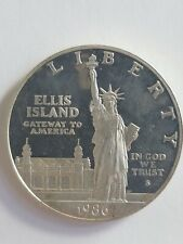 1986 S ELLIS ISLAND STATUE OF LIBERTY - PROOF SILVER DOLLAR Impaired (coin only)