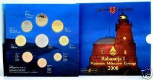 2008 8 monete 3,88 euro FINLANDIA finlande finland suomi Финляндия