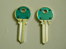 2 Yale Y1 Green Head Key Blanks- Made by Hillman