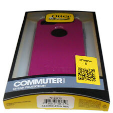 New OEM OtterBox Apple iPhone 5 Boom Purple Commuter Case w Screen Protector RET
