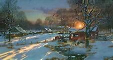 Dave Barnhouse S/N Old farm Tractor print- BACK HOME