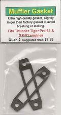 Thunder Tiger Pro-61 & GP-61 Muffler Gasket 2 Pack NIP