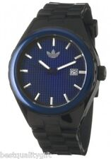 NEW ADIDAS BLACK & BLUE RESIN WITH DATE CAMBRIDGE WATCH ADH2098