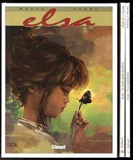 ELSA    3  volumes   série complète   FAURE / MAKYO      EO