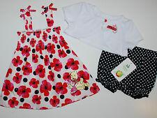 Kleid~Winnie Pooh~USA~DISNEY~56-62~3 tlg~Babykleid+ Bolero~Puuh Bär~pink~geblumt