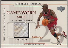 1999-00 UD MASTER COLLECTION SHOE #MJGS1: MICHAEL JORDAN - GAME WORN SWATCH