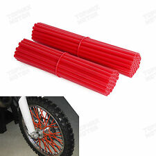 """Red 17-21"""" Skin Coat Spoke Wraps Covers for Dirt Bike,Motorcycle,Supermoto"""