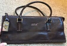 MATT & NAT Stylish Handbag Vegan Leather Fashion from Montreal Dark Brown Croc