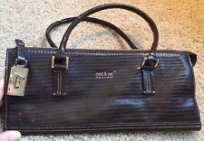 MATT & NAT Stylish Handbag Vegan Leather Fashion from Montreal Dark Brown Croc