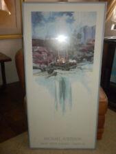 "Michael Atkinson framed pencil sgnd Santa Fe Weavers Smoky Ridge Gallery 20""x40"""