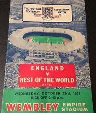 The FA Centenary Match 1863-1963 England V Rest of the World Wed 23rd Oct 1963