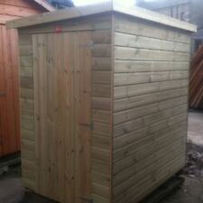 6x6 TANALISED WOODEN GARDEN SHED FACTORY SECONDS PENT HUT FULLY T&G STORE