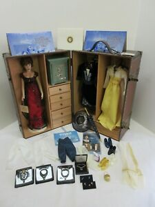 TITANIC FRANKLIN MINT COLLECTION ROSE DOLL, SAFE  ,OUTFITS ,TRUNK, HEART, EXTRAS