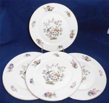 Vintage Rosenthal Continental Ivory Bavaria 4 Bread & Butter Plates Bird Floral