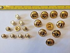 20 of Russian Navy Gold Metal 2 sizes Uniform Buttons 14 mm & 22 mm