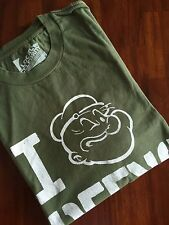 "LOCAL CELEBRITY  THE ARMY GREEN "" I LOVE GREEN "" T-SHIRT     ( S) $ 68"