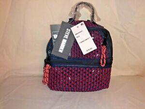NWT Steve Madden Btanya Red Blue Mesh Clear Mini Convertible Backpack MSRP $78