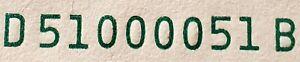 2017A FRN Cleveland, OH 1 dollar FANCY TRINARY note D51000051B