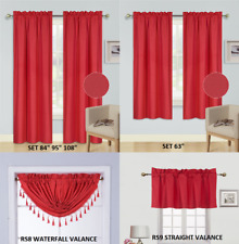 PANELS OR VALANCES SOLID BLACKOUT ROD POCKET FOAM LINED WINDOW CURTAIN TREATMENT