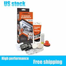 DIY Headlight Lens Restoration Kit Lamp Cleaning Tool With Manuel