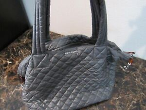 MZ Wallace Medium quilted Sutton Tote Bag Gray