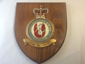 Vintage Hand Painted Royal Air Force (RAF) Station MANSTON  Plaque/Shield