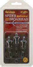 Allen Spider Broadheads - 3 Pack - Mechanical Hunting Broadhead 100 gr. 3 Blade