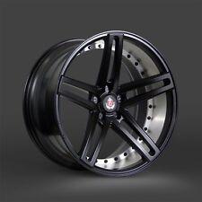 "20x8.5 & 20x10 Axe EX20 Semigloss Black Mirror Barrel 2pc Staggered Wheel 20"""