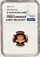 2019 S 1C Penny Lincoln NGC PF70 RD Ultra Cameo - Early Releases -