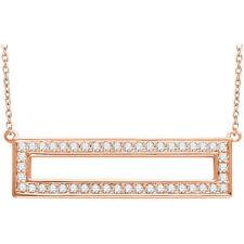 Diamante Rectángular 40,6 -45 , 7cm Collar en 14k oro rosa ( 3/8ct. TW