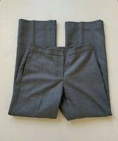 KASPER Petite Womens Career Pants 4P Size Gray Side Pockets Straight Plaid Lined