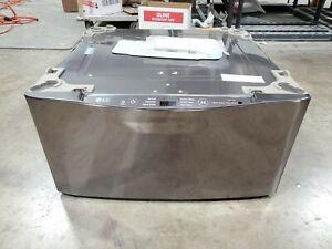 Open Box 27 in 1.0 cu ft SideKick Pedestal Washer Black SS WD100CK - A5