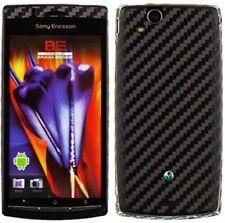 Skinomi Carbon Fiber Black Skin+Screen Protector for Sony Ericsson Xperia Arc S