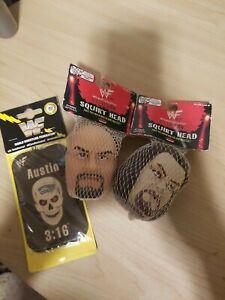 WWF WWE Vintage 1998 Attitude Era Undertaker Stone Cold Squirt Head AirNEW! LOT
