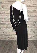 Auth New Michael Kors Runway Cocktail Black Dress Blouse Top Shirt 10 US 46 IT M