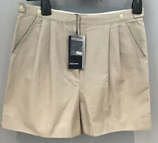 ^Fred Perry : Ladies High Waisted Shorts ( Uk 8 ) Oyster