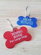 2 for $7.90!!! JUMBO SIZE BONE Shape Dog Tag, Pet Tag, FREE Laser Engrave & Post