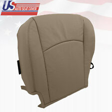 "2009-2012 DODGE RAM LARAMIE LEATHER & PERFORATED DRIVER BOTTOM SEAT COVER ""TAN"""